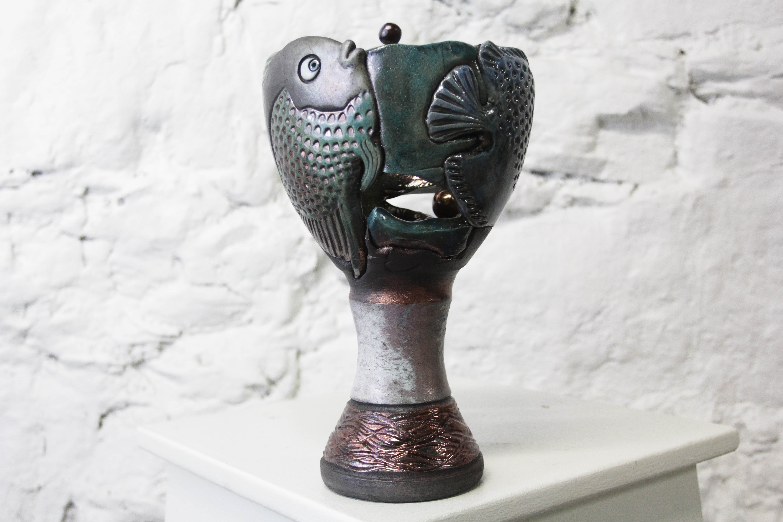 Pecestal Fish Vase, $175, 459312